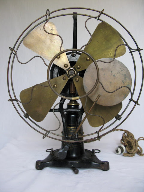 First Electric Fan : Early electric fans robbins myers list desk