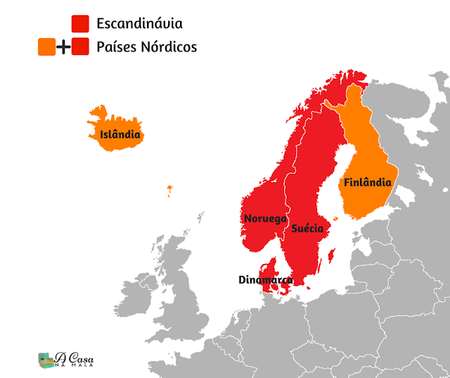 escandinávia e países nórdicos