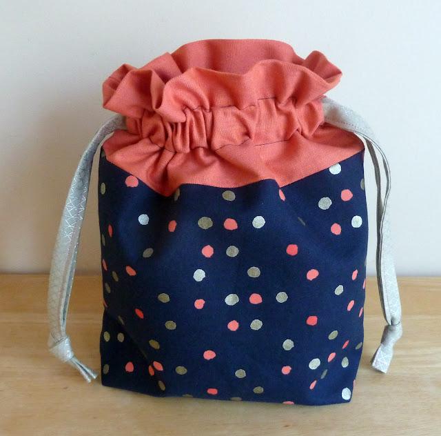 alidiza: Lining Up - Cotton + Steel Lined Drawstring Bag