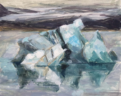#116 'Icelbergs Jokulsarlon, Iceland' 8×10″