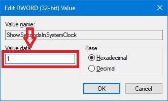 Gambar 5 - Cara Menampilkan Detik Pada Jam Taskbar Windows 10