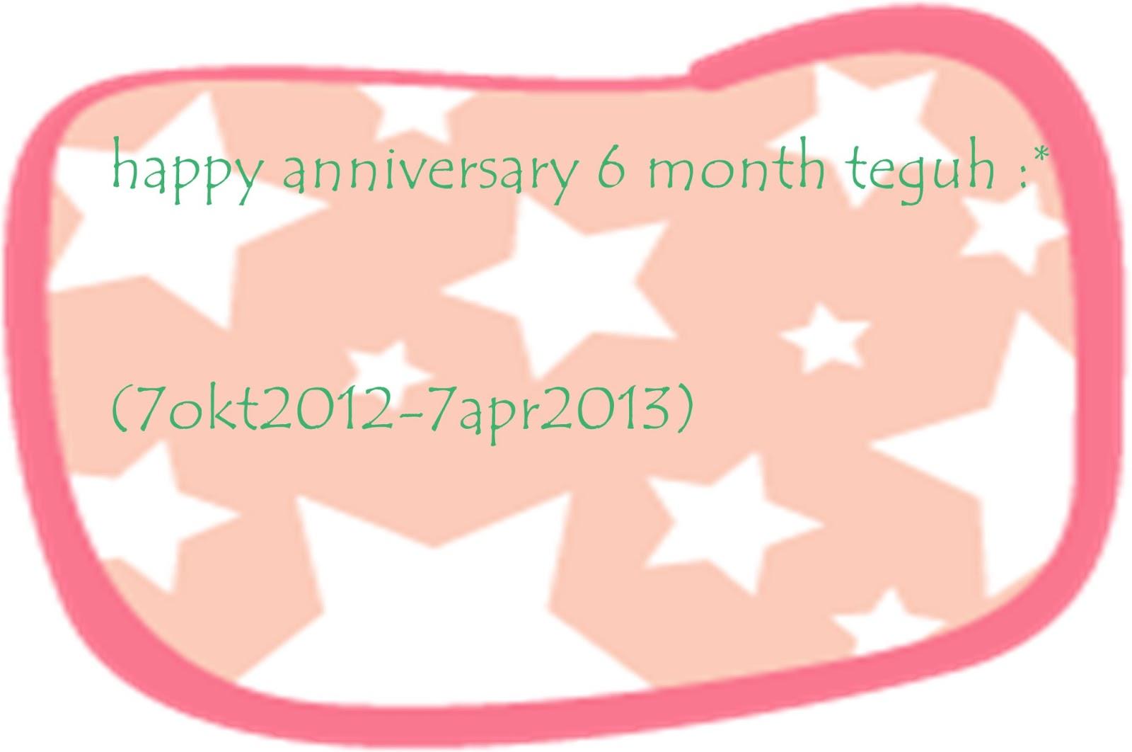 My Diary Selamat 6 Bulan Sayang