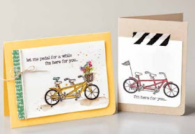 Stampin' Up! Sale-a-bration 2016 Pedal Pusher cards by #stampinup www.juliedavison.com