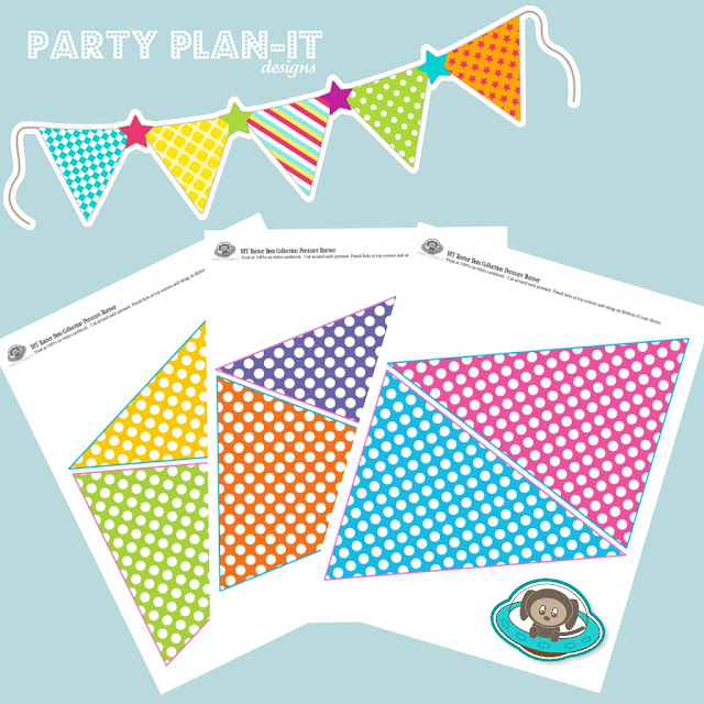 Spring Dots Pennant by Michelle Stewart