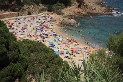 Cala Bona (Sant Francesc) beach in Blanes
