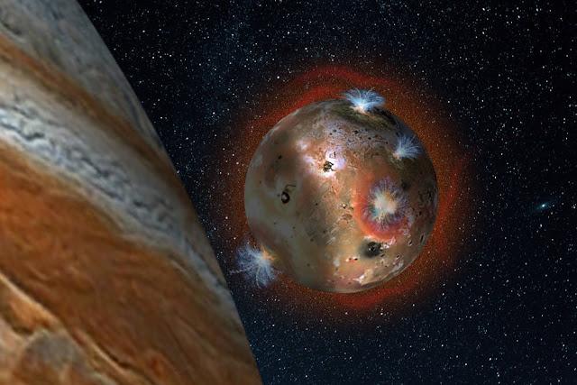 O colapso atmosférico de Io, famoso satélite de Júpiter