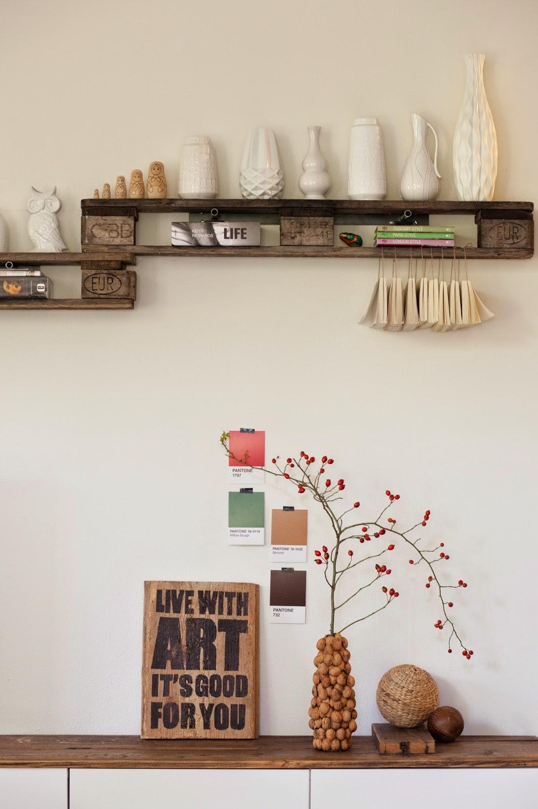 diy mit gr eren kindern vase aus waln ssen. Black Bedroom Furniture Sets. Home Design Ideas
