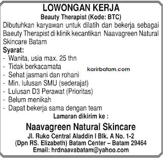 Lowongan Kerja Naavagreen Natural Skincare