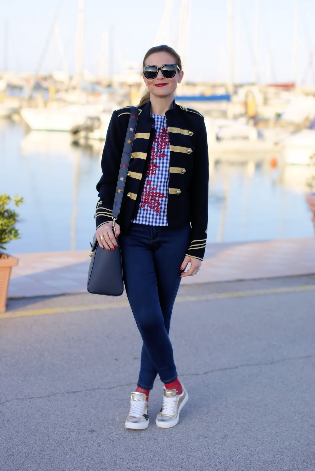 Giacca stile navy su Fashion and Cookies