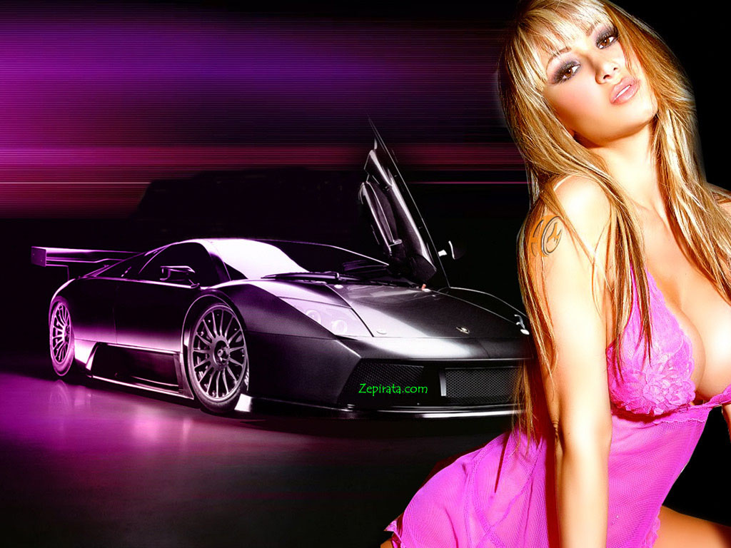 Sport Car Wallpaper With Girl: .: Gatas E Carro