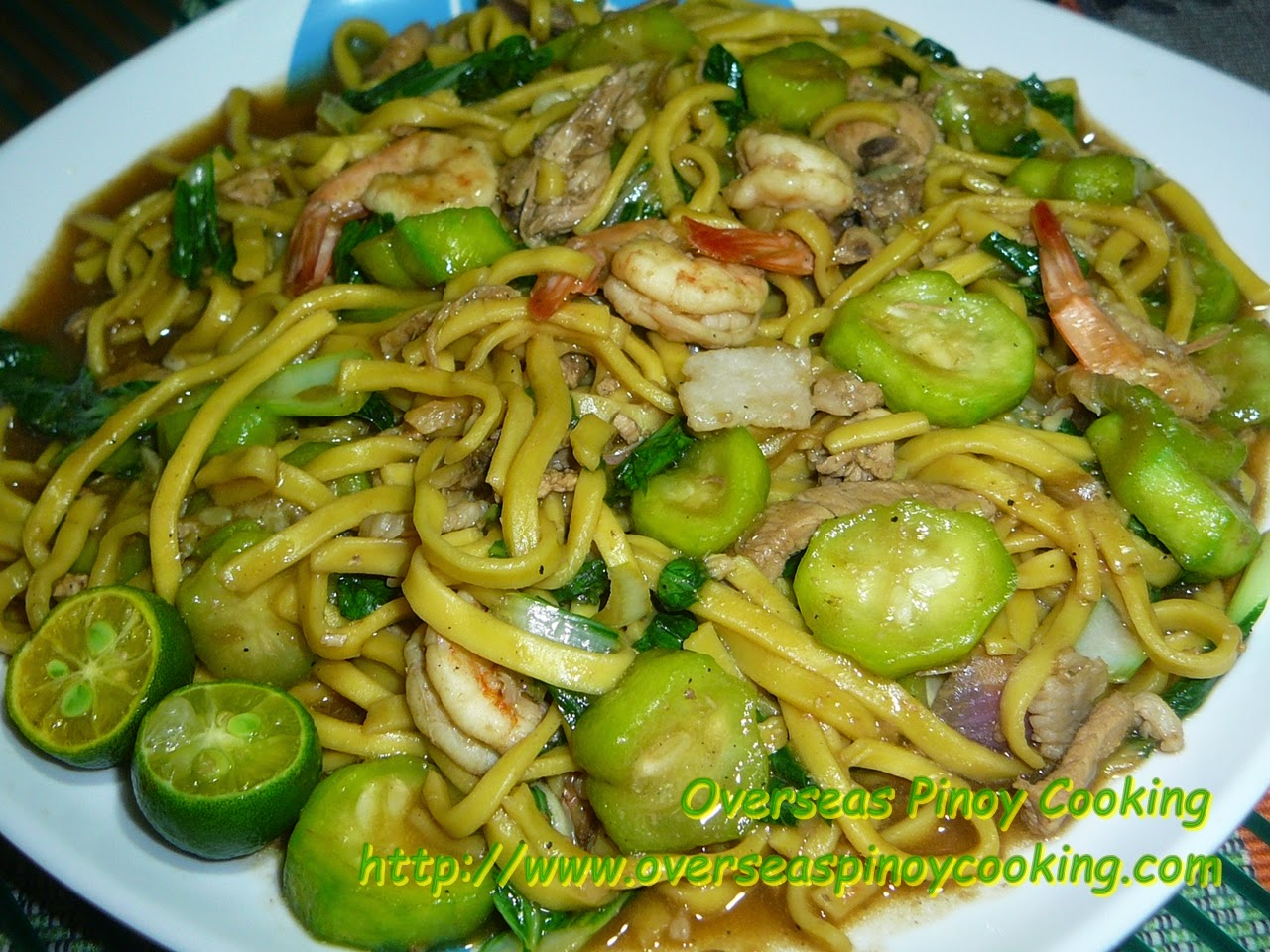 Pansit Miki with Patola