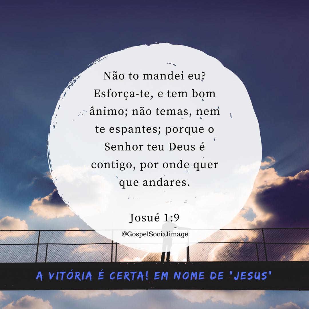 Mensagem e Imagem Bíblica - Josué 1.9