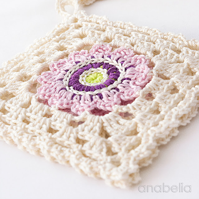 Japanese inspiration crochet square motif by Anabelia Craft Design