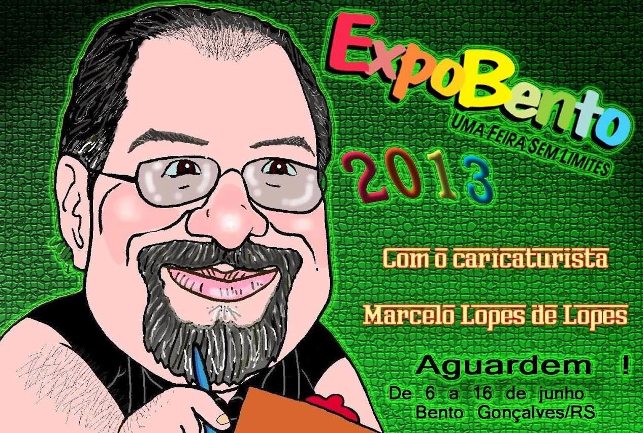 FEIRAS com o Caricaturista Marcelo Lopes de Lopes