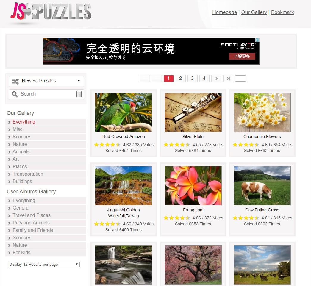cre8tone: JS Puzzles - Jigsaw Puzzles Online