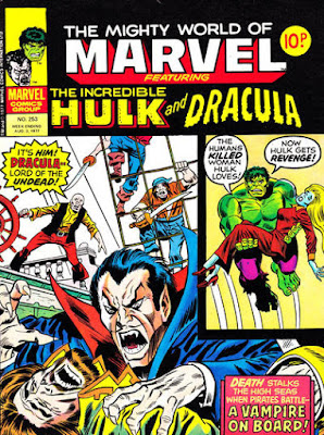 Mighty World of Marvel #25, Hulk and Dracula
