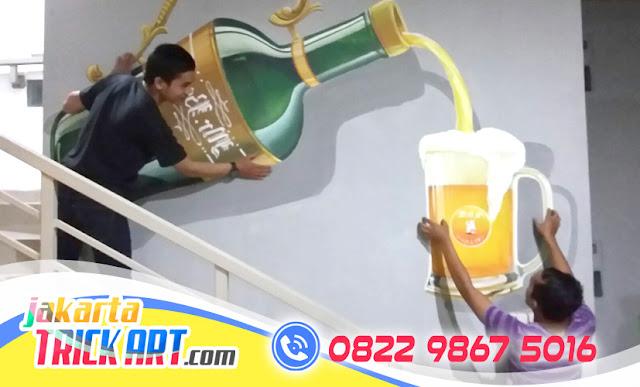 Lukisan 3D Dinding Cafe