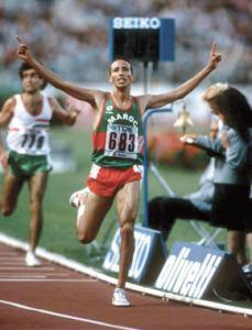Said Aouita est une légende de l'athlétisme Marocain.