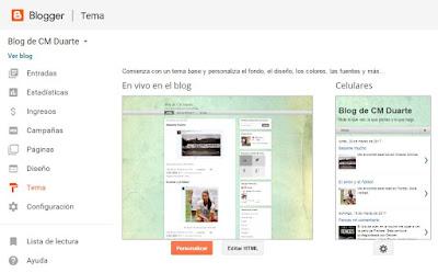 Nuevos temas en blogger
