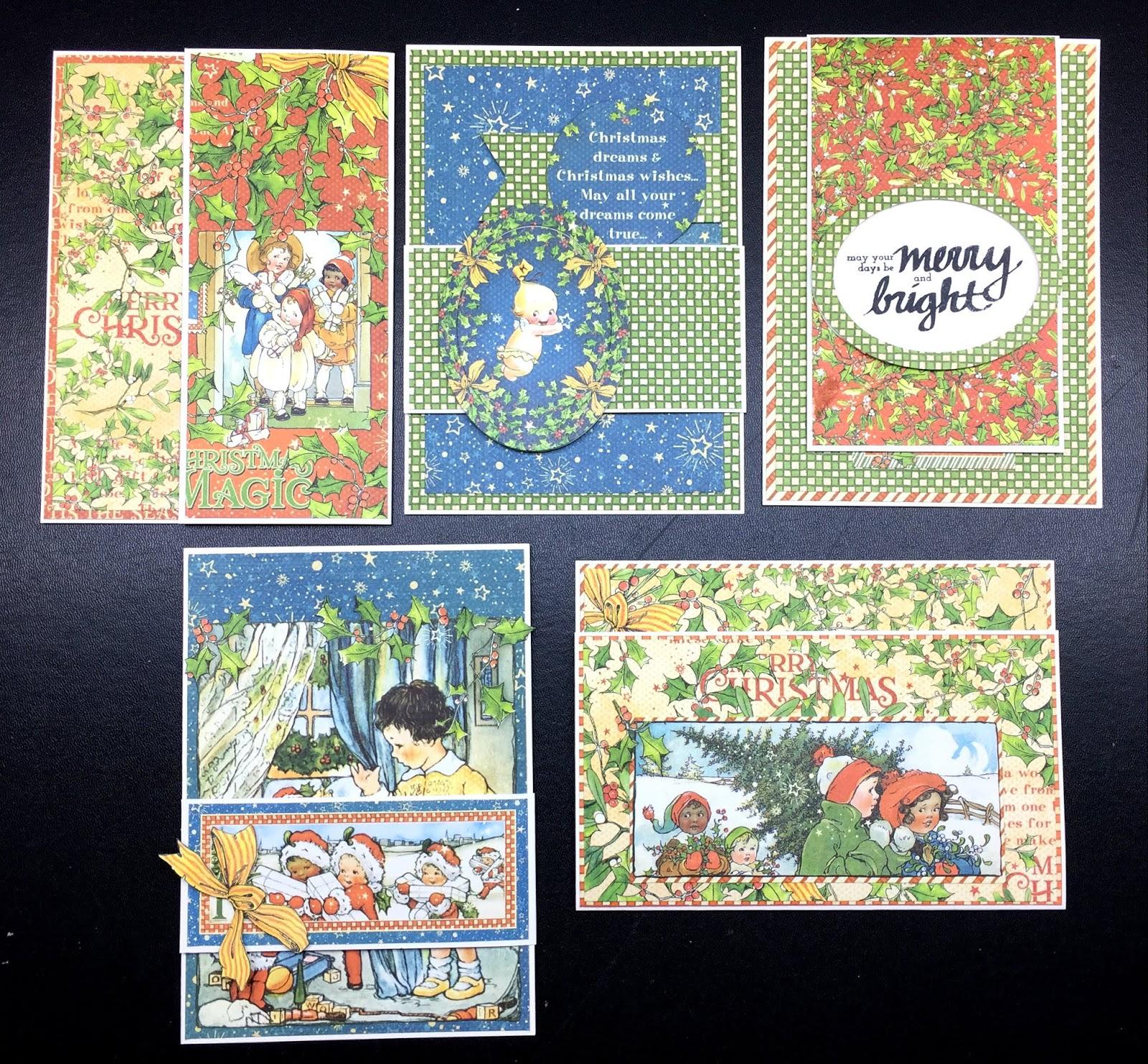 Aspiring to Creativity: Graphic 45 Christmas Magic Flap Card