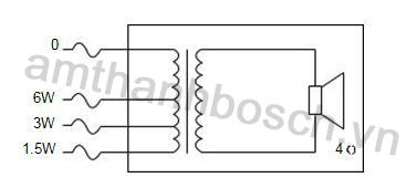 sơ đồ nối mạch loa trần LC3-UC06