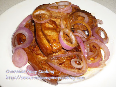 Pork Chop Steak, Bistek Style - Recipe
