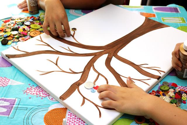 Button Art Kids Craft How To Make A Button Art Tree