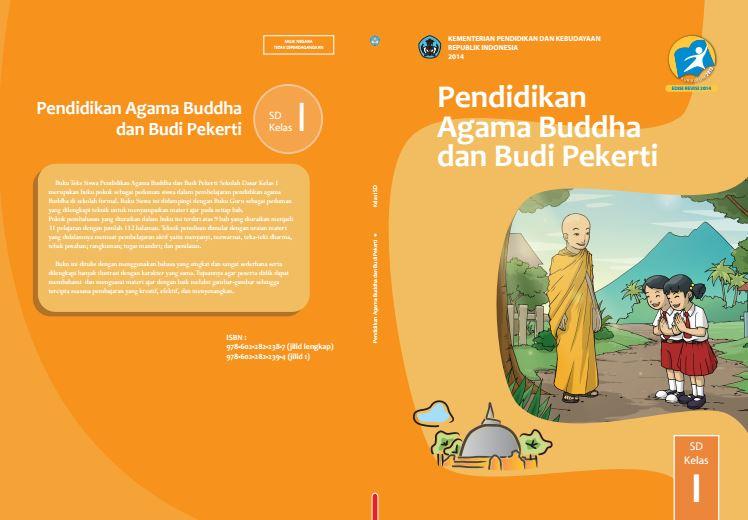 Download Gratis Buku Guru dan Buku Siswa Pendidikan Agama Budha dan Budi Pekerti SD Kelas 1 Kurikulum 2013 Format PDF