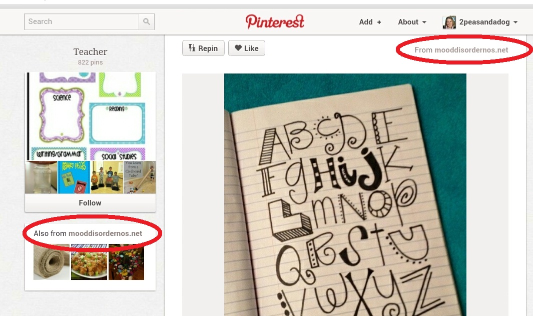Pinterest tips for teacher bloggers from the 2 Peas and a Dog blog.