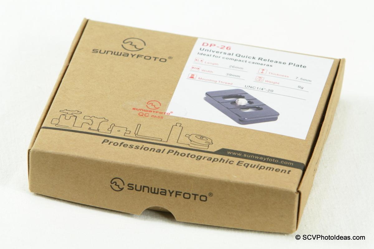 Sunwayfoto DP-26 QR Plate box