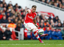 Ozil in Action for Arsnal