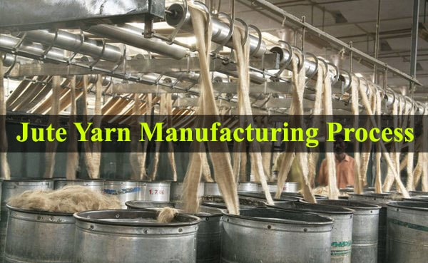 Jute spun yarn production process