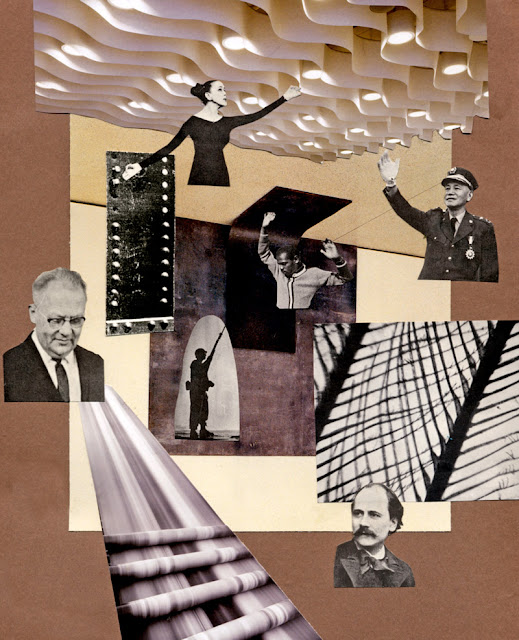 Hand cut paper collage, Los Dias Contados, August