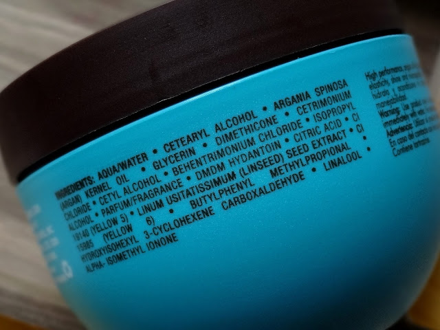 Moroccanoil Intense Hydrating Mask Ingredients