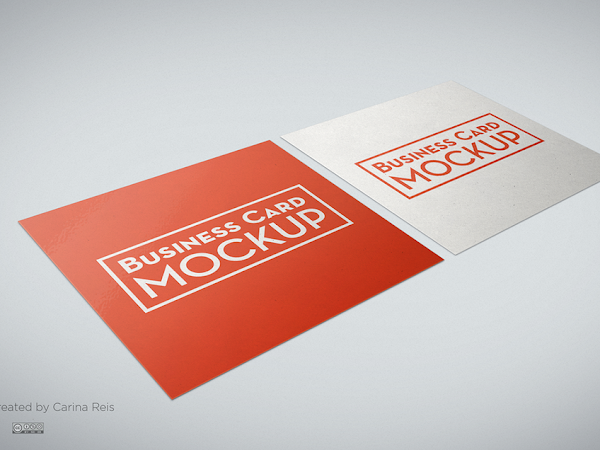 Download Square Business Card Mockup PSD Free