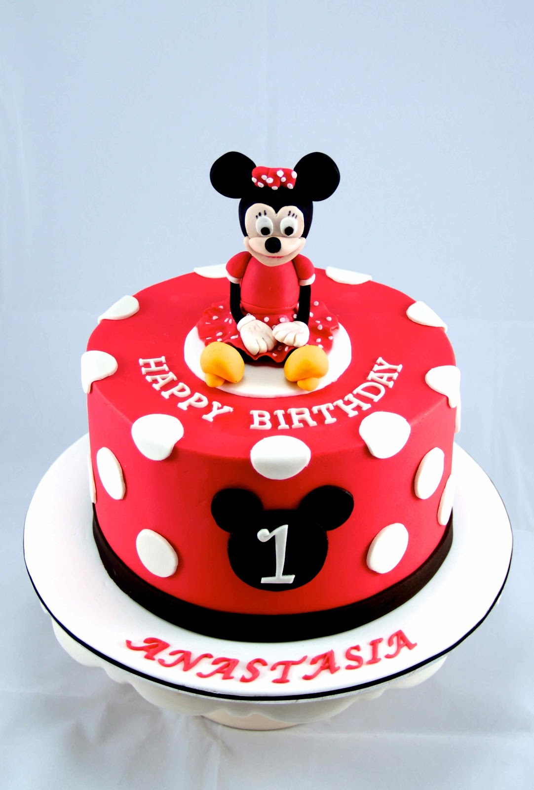Minnie Mouse Template With Red Bow