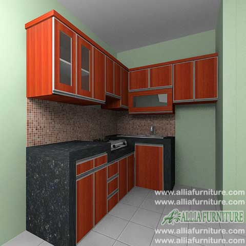 kitchen set minimalis bentuk L model york