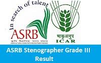 ASRB Stenographer Grade III Result