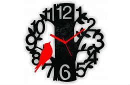 Panache MDF Black Tree Wall clock For Rs 189 + 10% Cashback at Shopclues