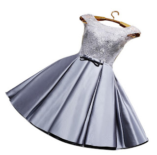 dress taffeta wanita