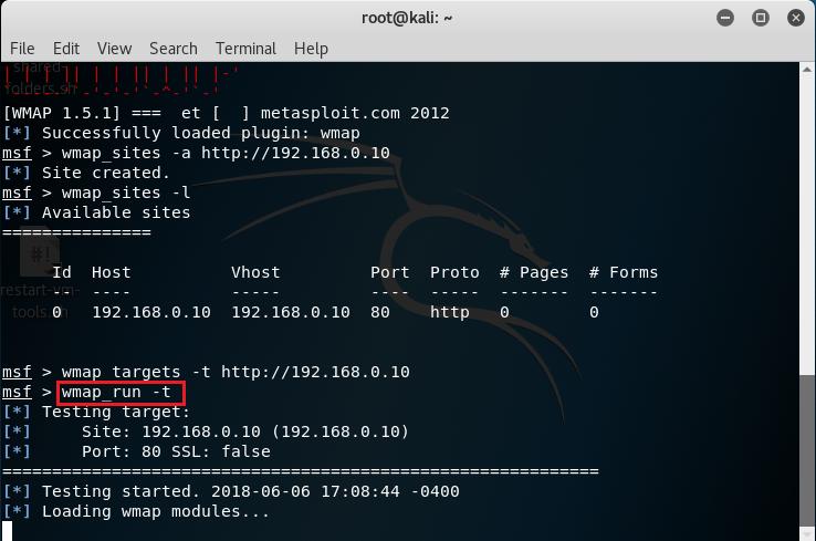Visualizzare i moduli abilitati con wmap_run