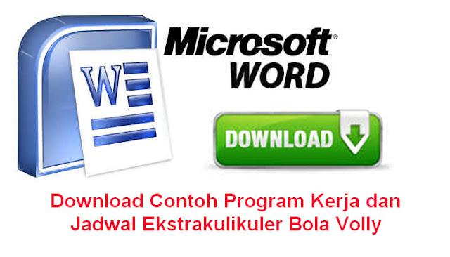 Download Contoh Program Kerja dan Jadwal Ekstrakulikuler Bola Volly