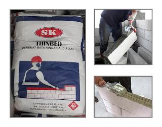 Supplier Bata Ringan, Semen instan SK Utama Mortar
