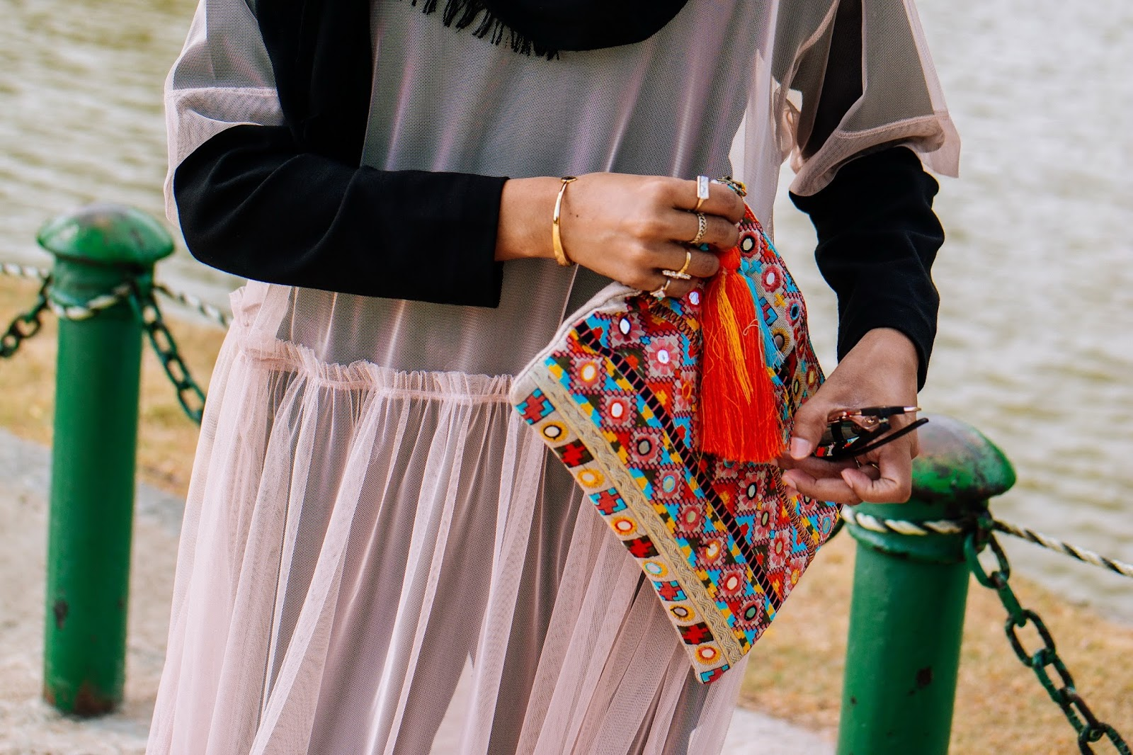 Mango Colourful Bohemian Clutch