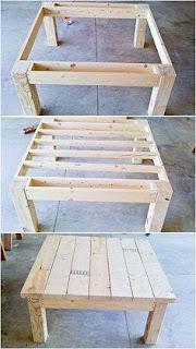 como hacer una mesa con palets de madera