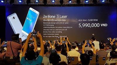Spesifikasi Zenfone 3 Laser