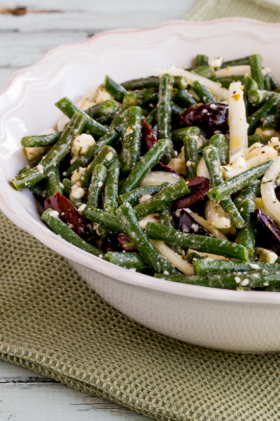 Green Bean Salad with Greek Olives and Feta Cheese found on KalynsKitchen.com