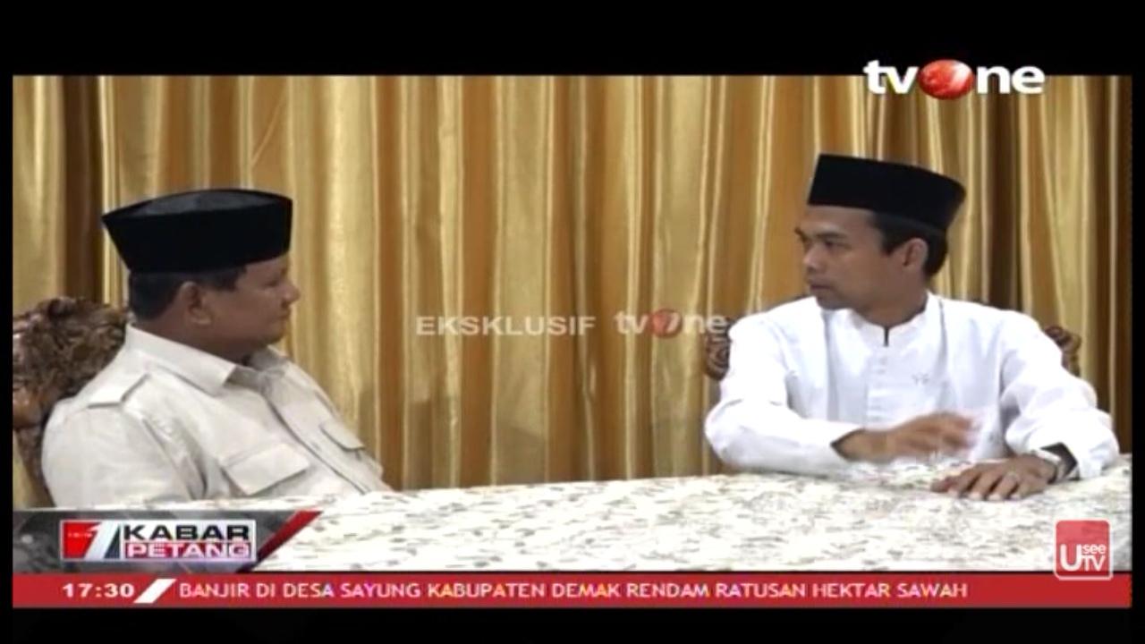 Insya Allah Prabowo Terpilih Presiden, 2 Permintaan Ust Somad Bikin Merinding