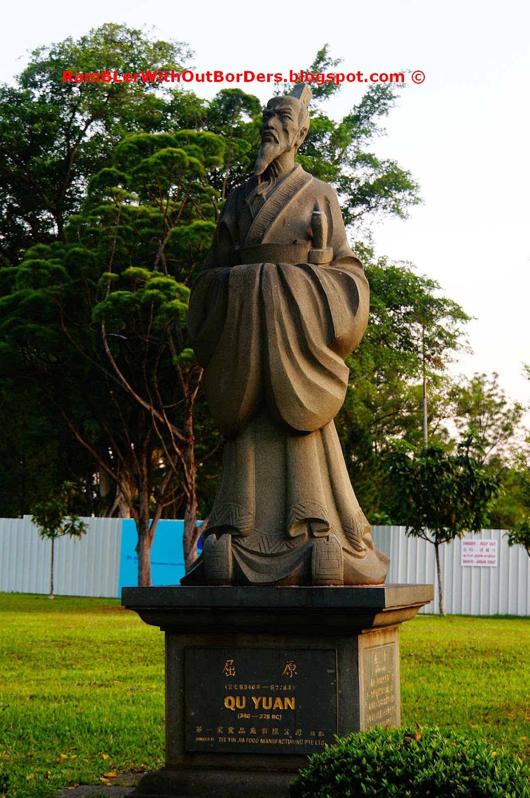 Qu Yuan statue, Chinese Garden, Singapore