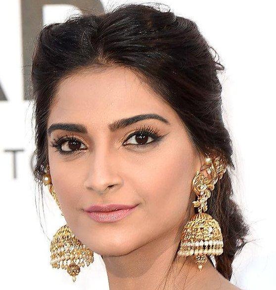 Sonam Kapoor Designer Gold Earrings